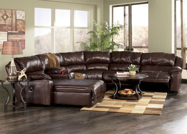 Ashley Leather Sectional Sofa with Chaise Braxton Left Chaise