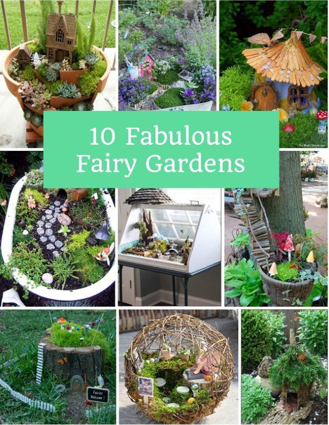 10 FABULOUS FAIRY GARDENS | Pinterest | Fairy, Creative and Gardens