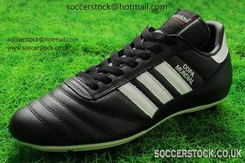 uomini è adidas copa mundial cuoio fg scarpe da calcio nero / running