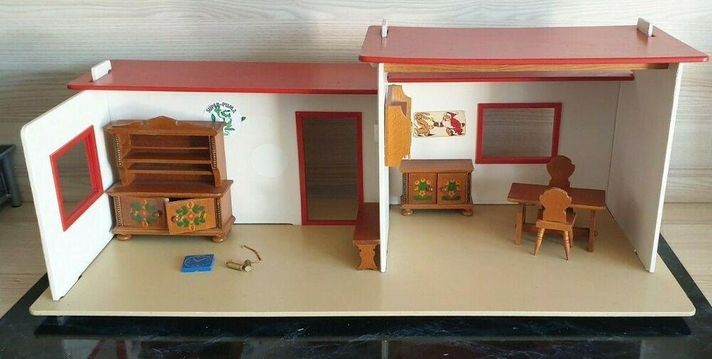 Puppenhaus Mit Zubehor Von Vero 80er Jahre Ddr Puppenhaus Haus Puppen