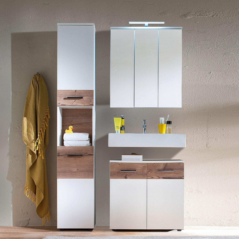 Gunstige Spiegelschranke Mit Licht Schmale Badmobel 20 Cm Tiefe Badmobel Landhausstil Holz Badmobel Set Hochschrank Waschtisch Set Schrank Mit Glasturen