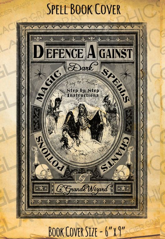 Free Printable Book Covers to make Halloween Spell Books - old fashioned wanted poster