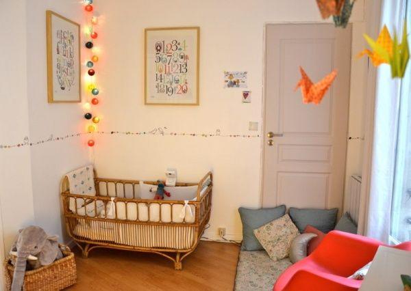 amcodeco / chambre vintage, mobile en origami et guirlande ...