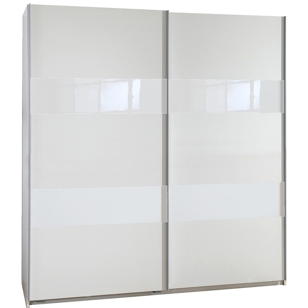 Schwebetüren Kleiderschrank Chess Glas Breite wählbar Weiß Weißglas ...