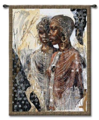 African American Women Fine Art Tapestry Wall Hanging African American Art Art Sisters Art