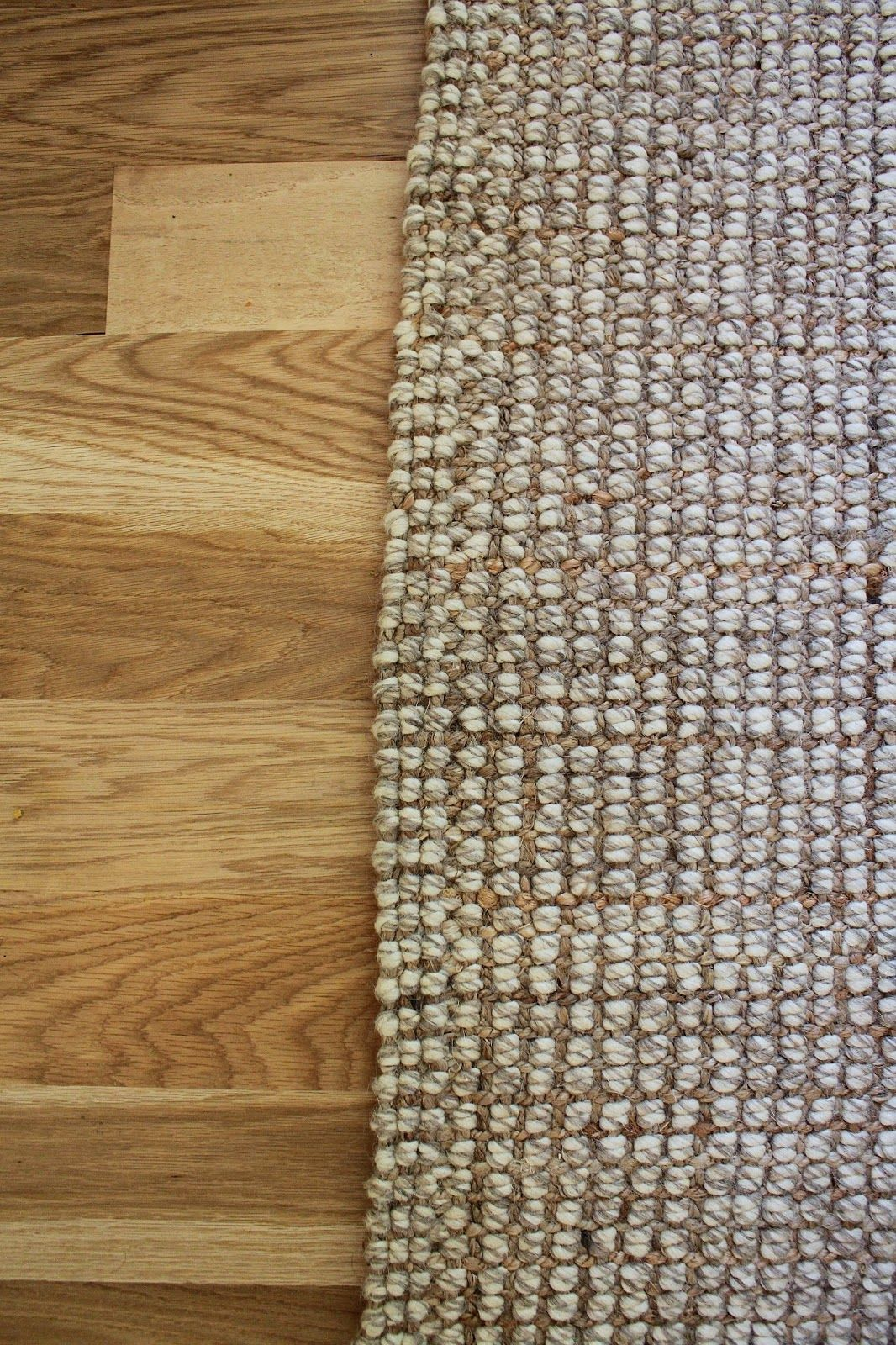 Blonde Tall Pottery Barn Chunky Wool Jute Rug Rugs