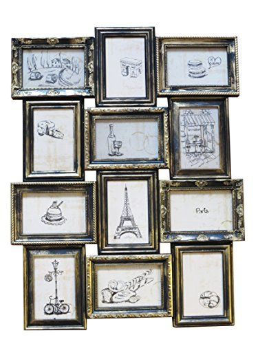 12 Opening 4x6 Black With Gold Paris Collage Frame You Can Get More Details By Clicking On The Image Collage Frames Collage Picture Frames Picture Collage