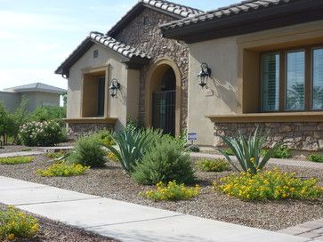 Mediterranean Landscape With Rocks 5 081 Front Yard Landscaping