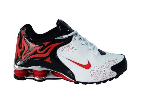 17923580a225 Nike shox r4 torch black white red has got reputation all over the world  and are great cheap nike shox shoes for your sport.