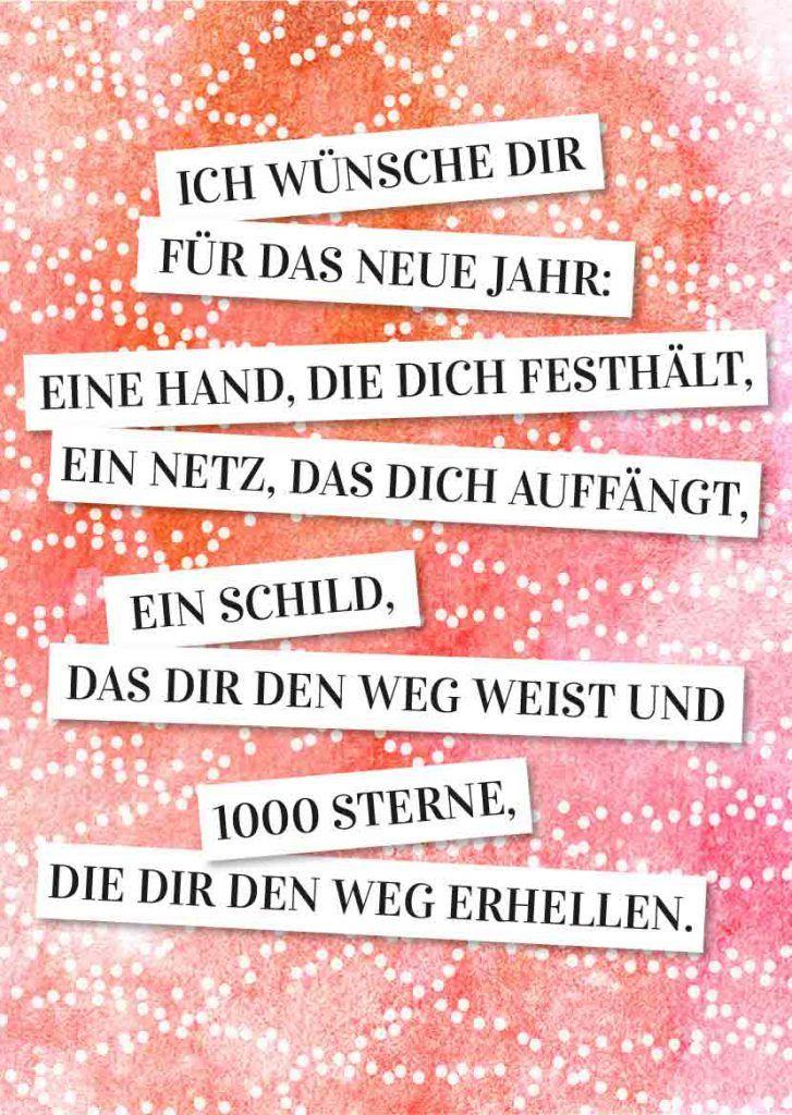 Neujahrsgrüße » 30 Sprüche zum Ausdrucken & Verschicken | SPRÜCHE ...