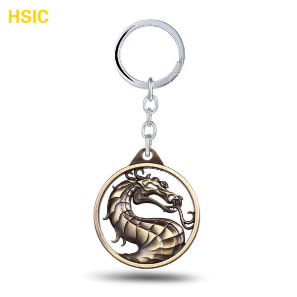Mortal Kombat Design Logo Alloy Key Chains Keychain Keyfob Keyring