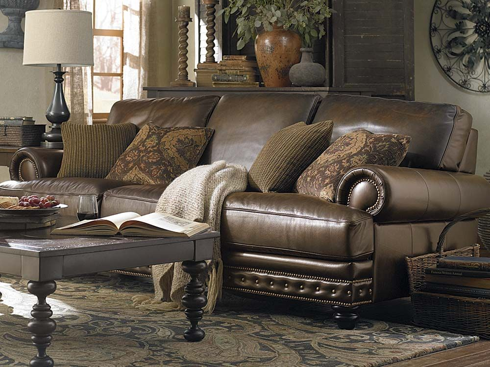 The Callahan Sofa By Bassett Furniture Features Extra Length And Is Extra  Deep.