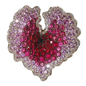 "Carlo Palimero ""Cuore"" Ring in Diamonds & Colored Sapphires"