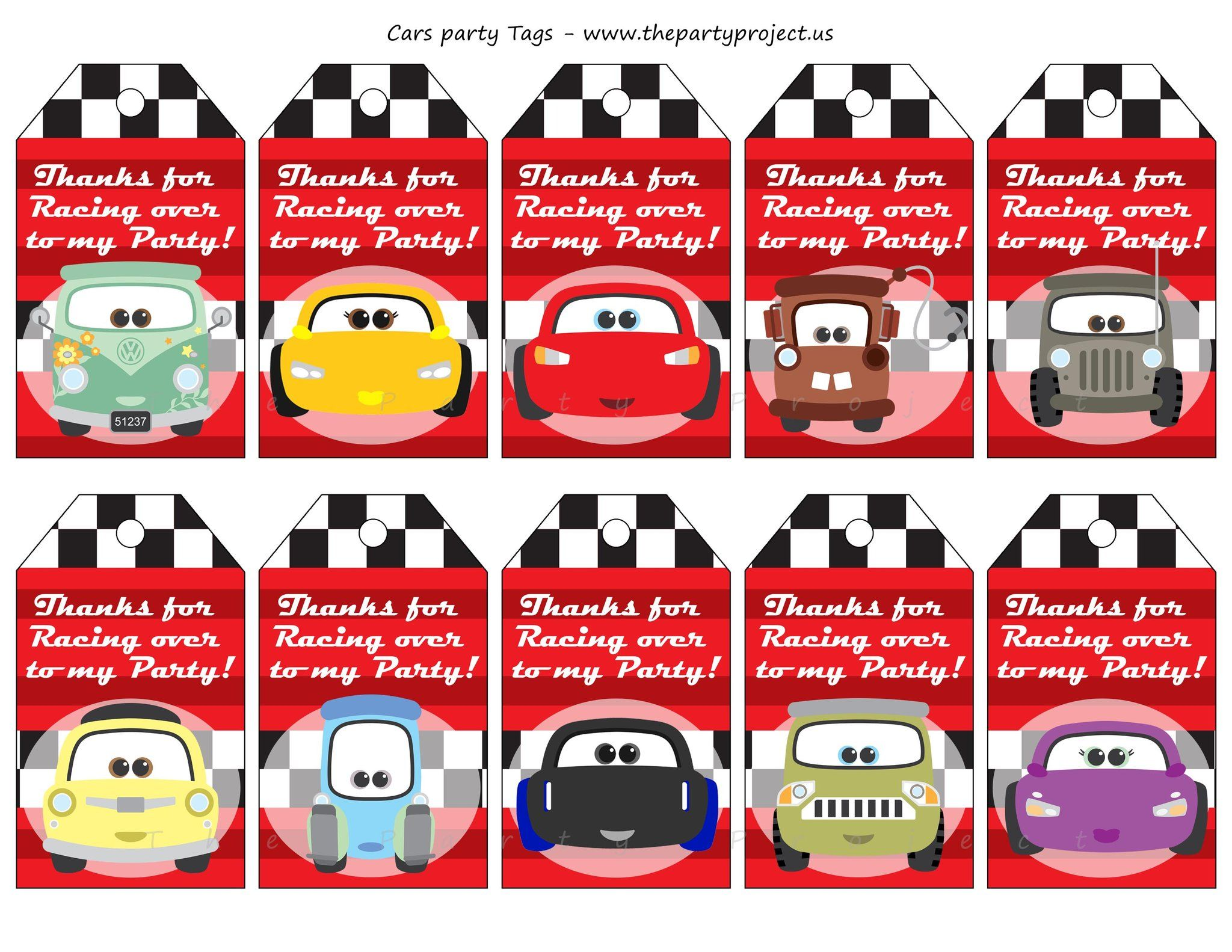 DIY PRINTABLE Cars 3 party package | Cars birthday kit | Party ...