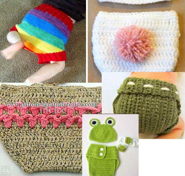 cubre pañal de lana tejido crochet y dos agujas | Crochet y Dos ...
