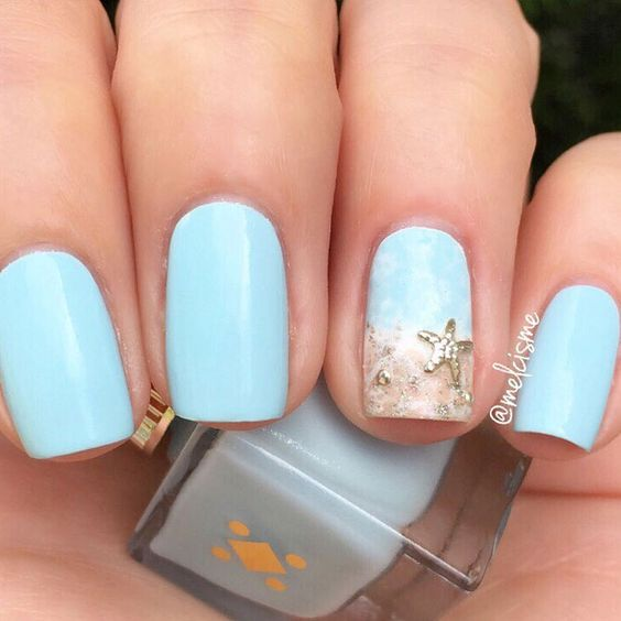 35 Summer Beach Nails for 2019 - Molitsy Blog