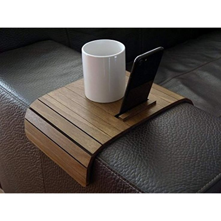 Wooden Flexible Sofa Table For Armrest With Phone Stand In Many Colors As Dark Walnut Small S Blog