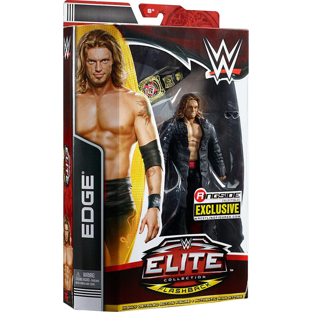 WWE Wrestling Mattel Basic combat Heritage Series Edge figure flashback