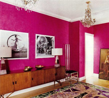 I love fuschia i think this would make me happy always for Fuschia bedroom ideas