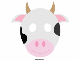 Cow mask template There is also a coloring page version of the