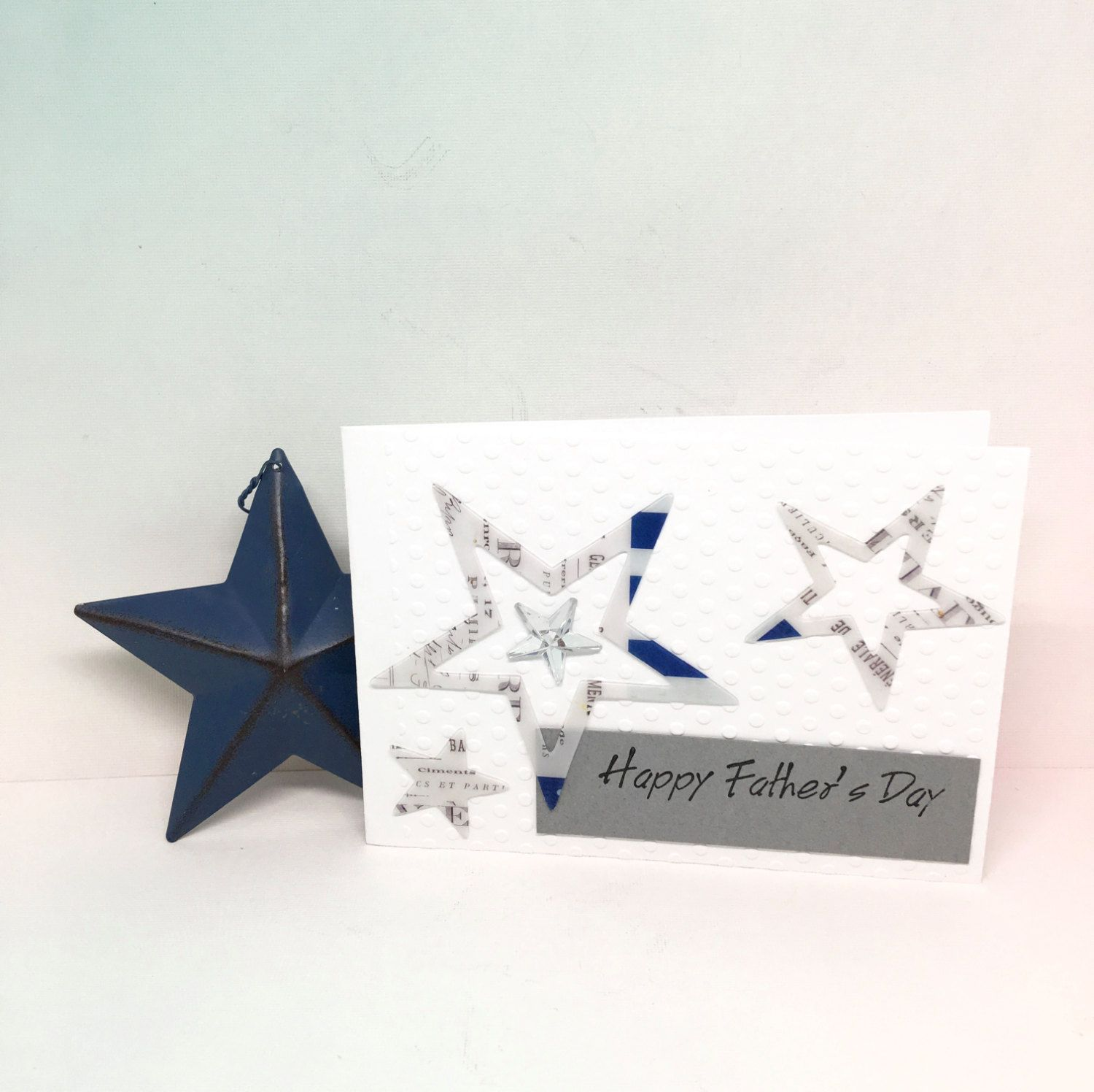 fathers day card  paper handmade greeting card  fathers