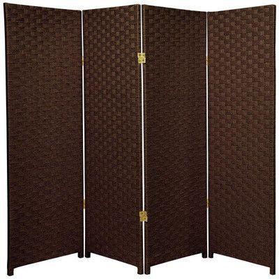Oriental Furniture 4 Foot Tall Paneled Room Divider Color: Dark Mocha