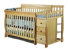 Dream On Me 5 In 1 Brody Convertible Crib With Changer Natural Http Www Babystoreshop Com Drea Crib And Changing Table Combo Crib With Changing Table Cribs