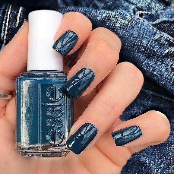 Blue teal nail polish,fall nail color ideas, Chic Nail