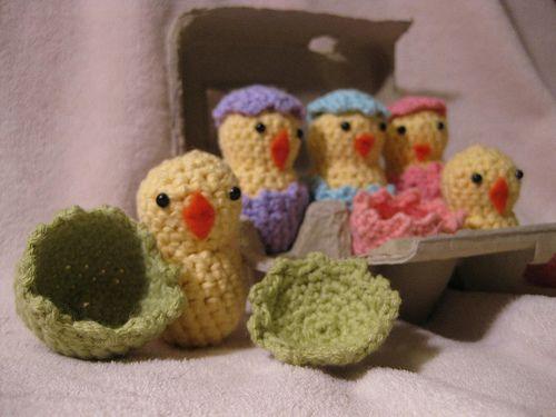 Hatching Easter Chicks Crochet Pattern Amigurumi Crochet