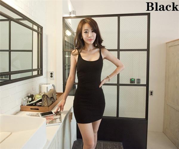 a064c793737ae Backless Sleeveless Slim Dress