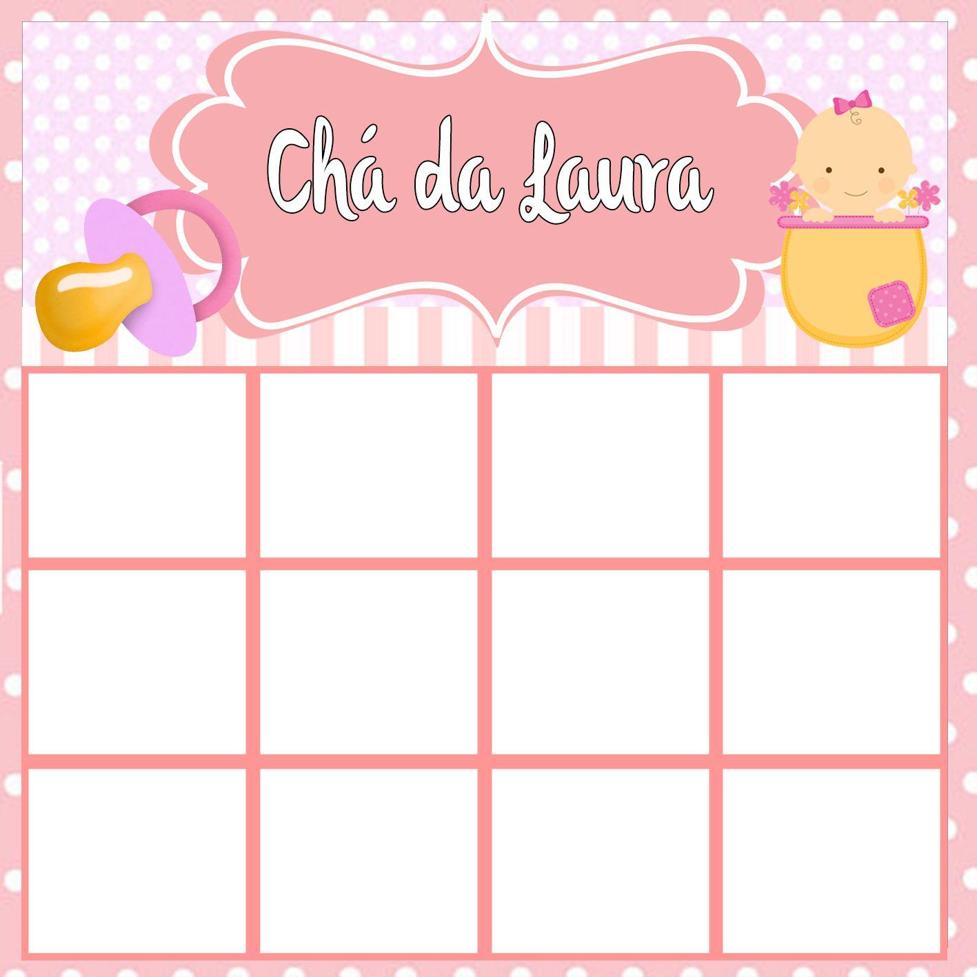 70 Cartelas Baby Bingo Chá De Bebê - Digital no Elo7 | Natália Convites !  (4EA675) | Bingo cha de bebe, Bingo, Cartelas de bingo