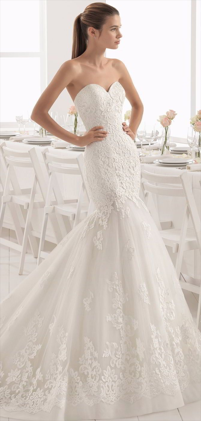 Mermaid dress wedding  Aire Barcelona  Wedding Dresses  Wedding Bells  Pinterest