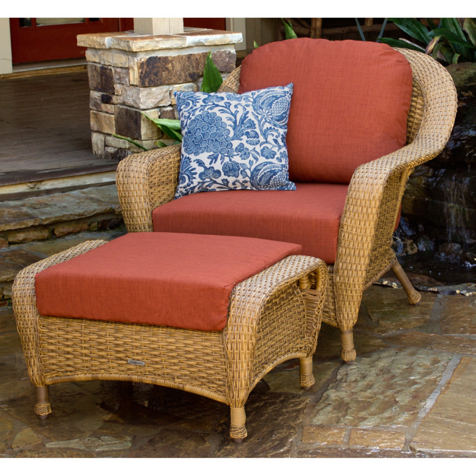 Best Outdoor Tortuga Sea Pines 2 Pc Chair And Ottoman Set 400 x 300