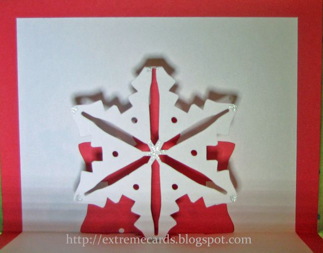 Easy Pop Up Snowflake Cards Snowflake Cards Pop Up Card Templates Pop Up Cards