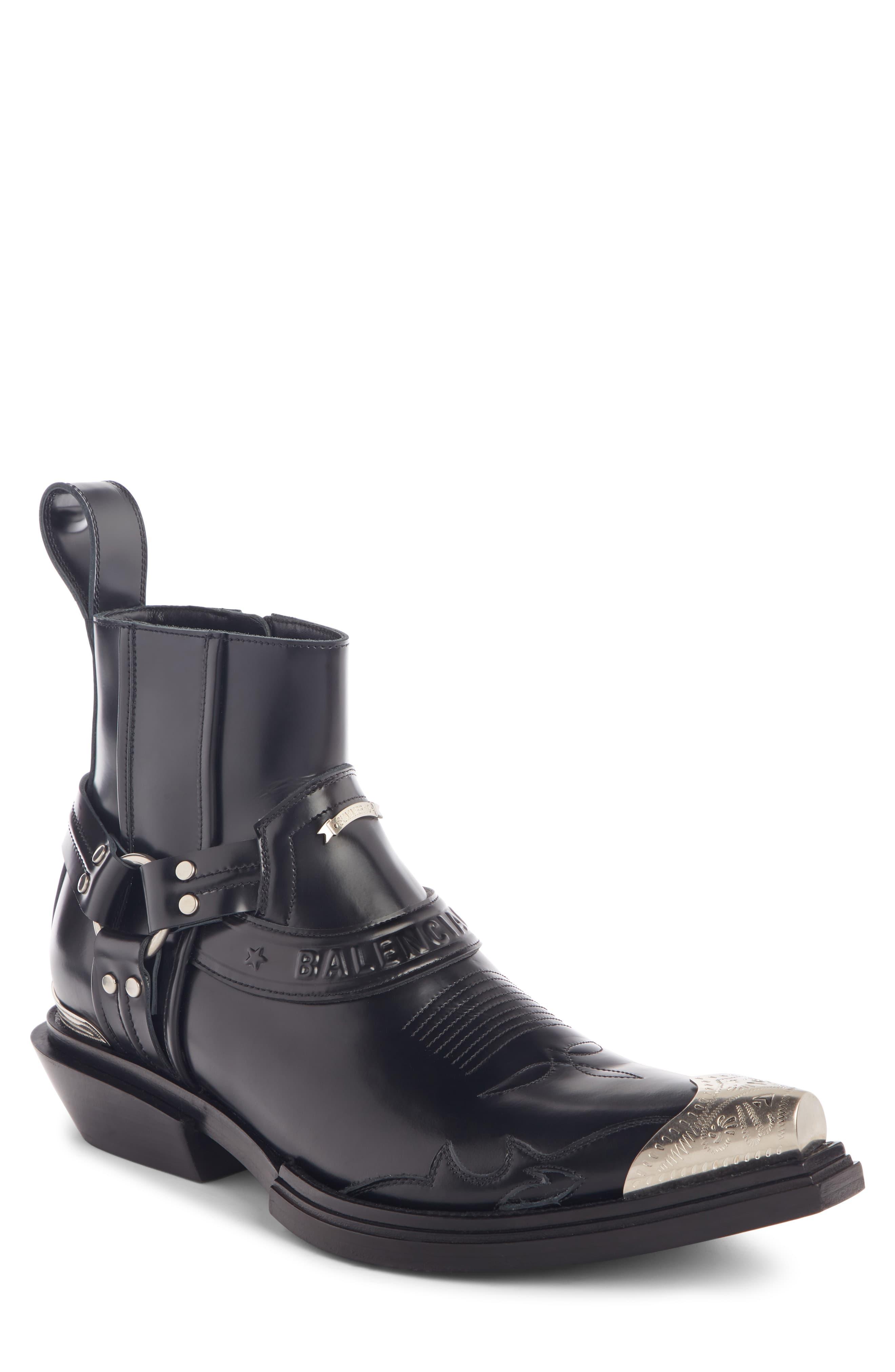 Men's Balenciaga Santiag Harness Boot, Size 9US 42EU