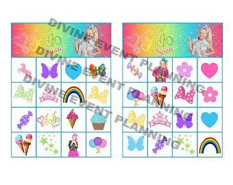 JoJo Siwa Bingo Instant download