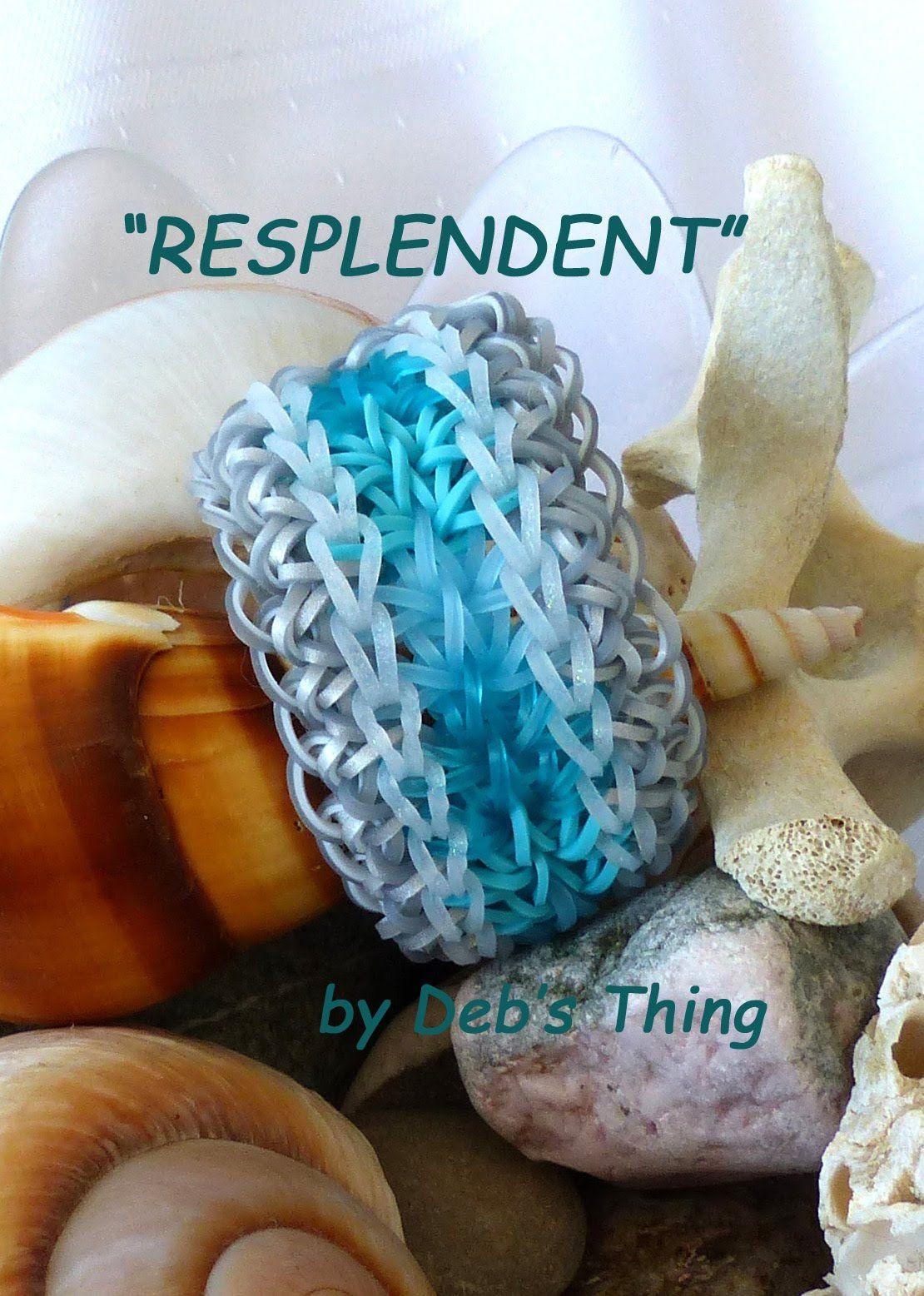 a7241b83bf Resplendent rainbow loom bracelet - uses 6 pin bars Pulseras De Gomitas