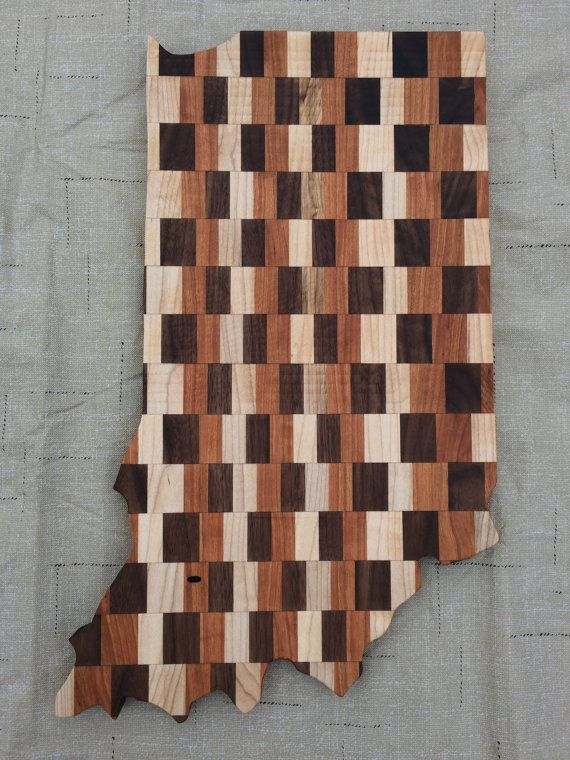 Indiana Cutting Board/Decoration by TheEdwardsWorkshop on Etsy