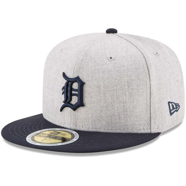 1764d0d344f ... ireland mens detroit tigers new era heathered gray navy heather hit  59fifty fitted hat 37.99 922e0