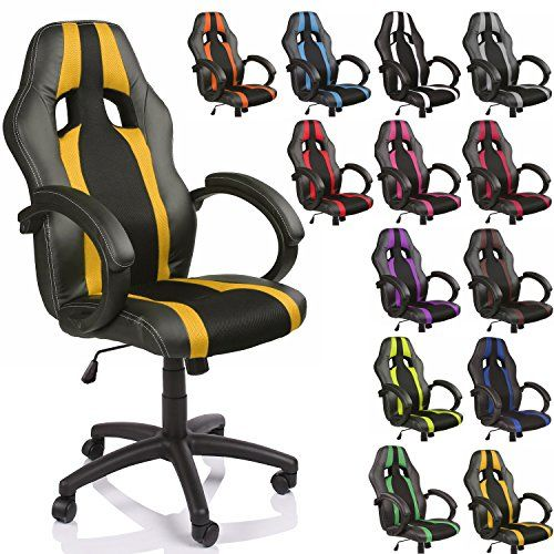 SILLA GAMER GAMING Con el sillón de escritorio Racing bicolor de ...