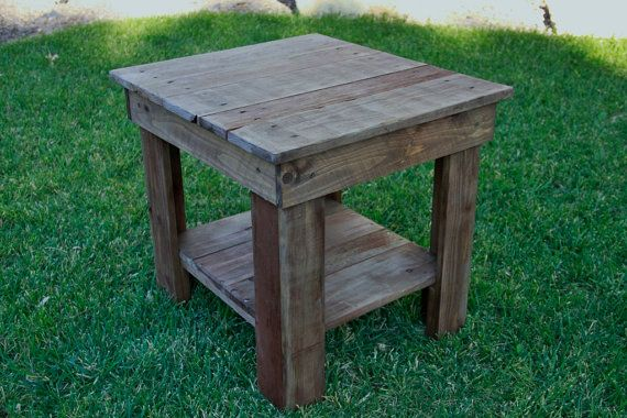 Pallet end table Rustic end Table Primitive by LynxCreekDesigns, $149.99