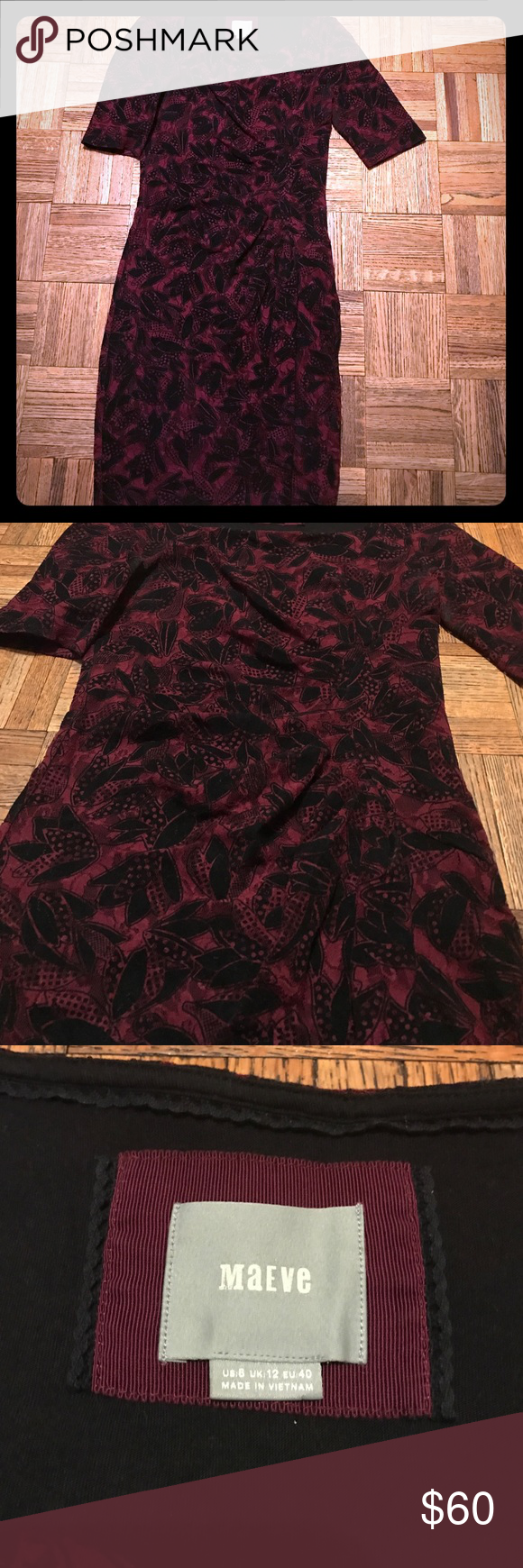 Red dress size 8 quilting