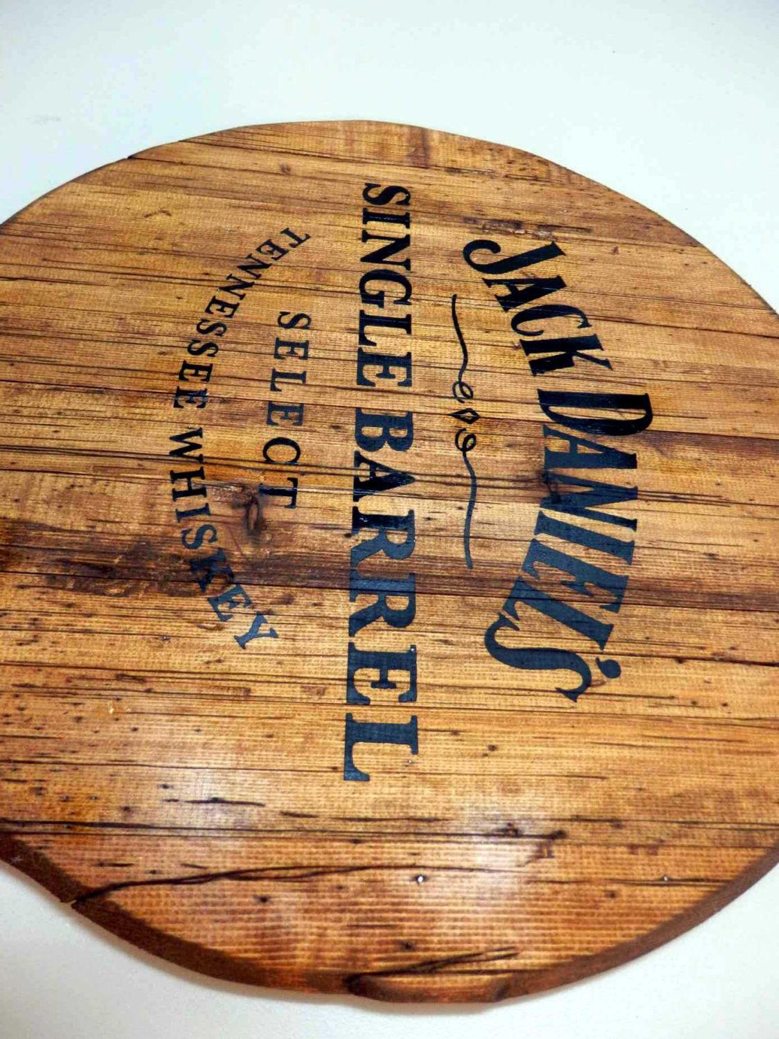 Personalized Nfl Man Cave Signs : Jack daniels wooden barrel top personalized & handmade vintage