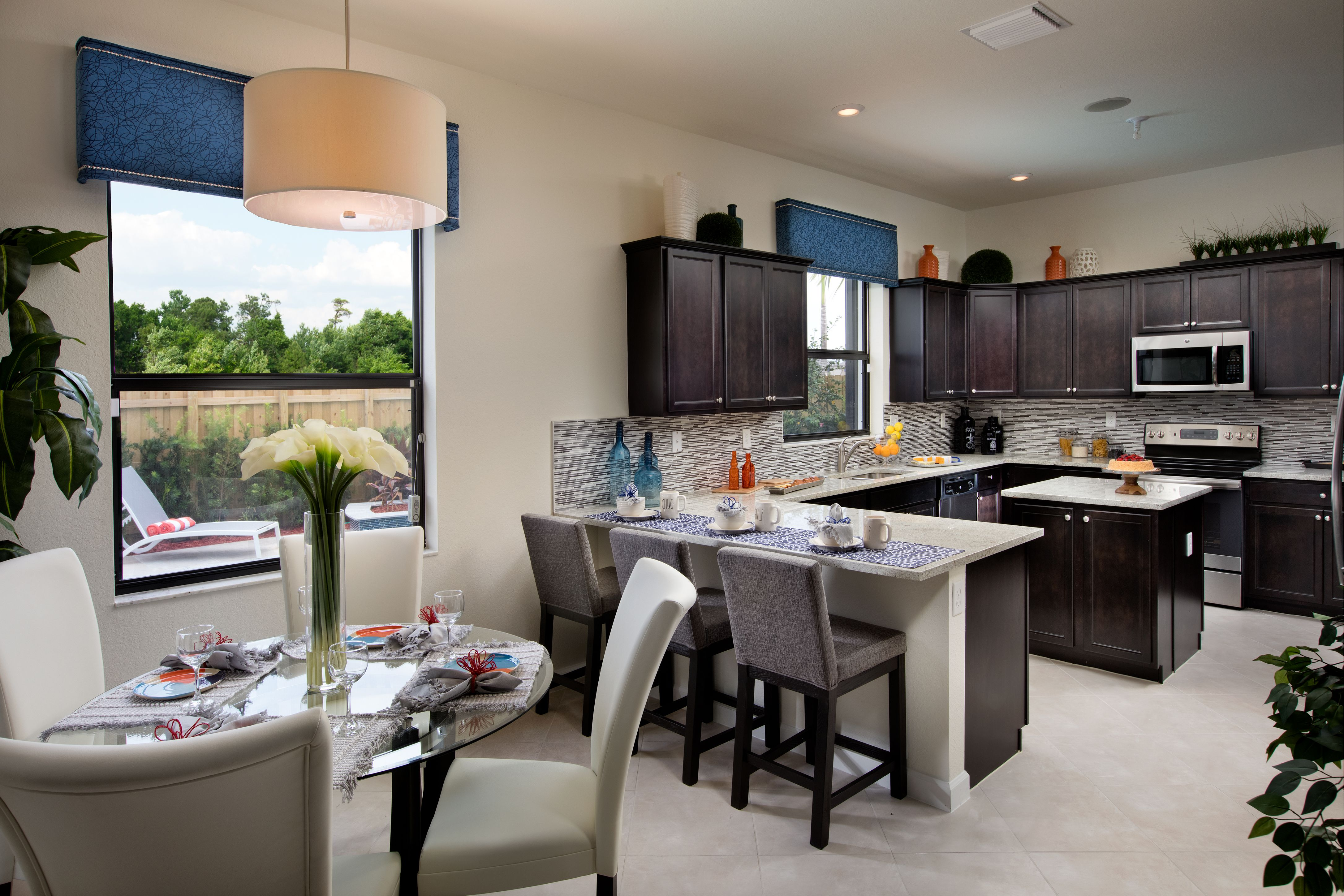 Would You Like To Get Your Day Started In This Kitchen Breakfast Area At Artesa Lennar Miami Artesa Ki Kitchen Cabinet Design New Homes Kitchen Design