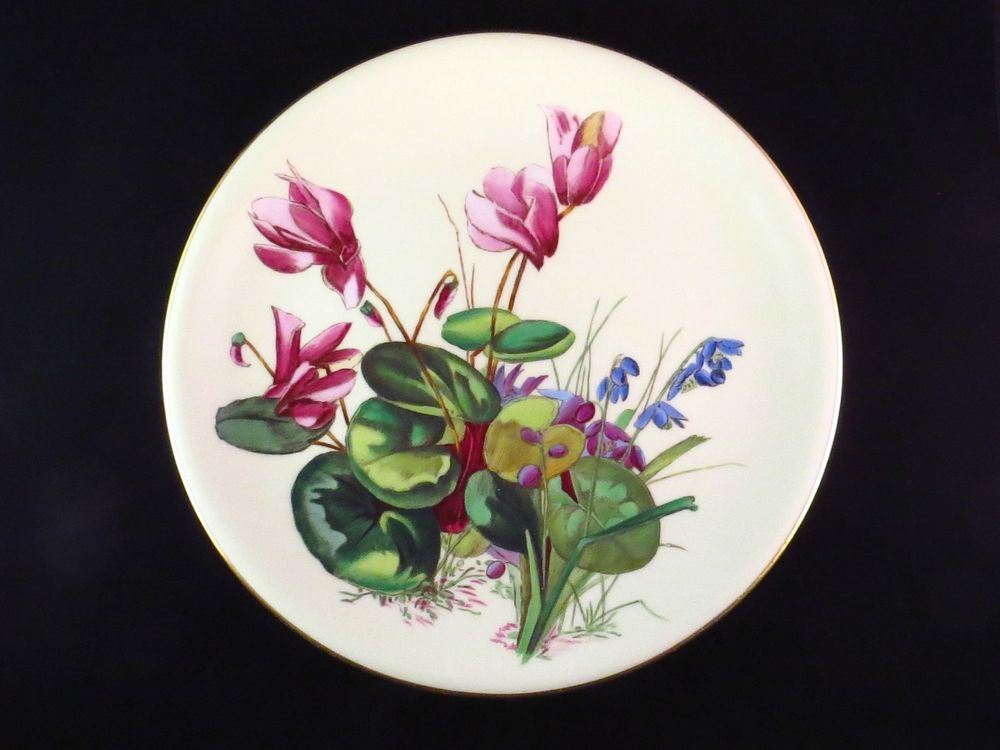Minton for Caldwell 1885 Hand Painted Aesthetic Cabinet Plate by William Mussill