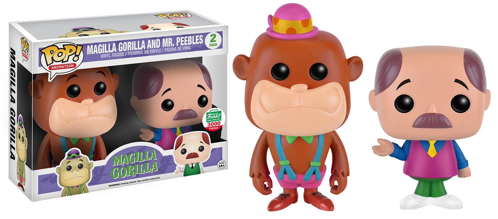 Neon Magilla Gorilla & Mr. Peebles Neon colors, Pop figure 2-pack by Funko, Funko-Shop exclusive LE 3,000 pieces