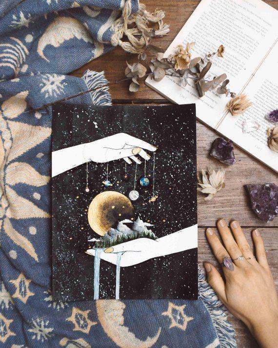 Ihr eigenes Universum, Raum Kunst, Schlafzimmer Dekor