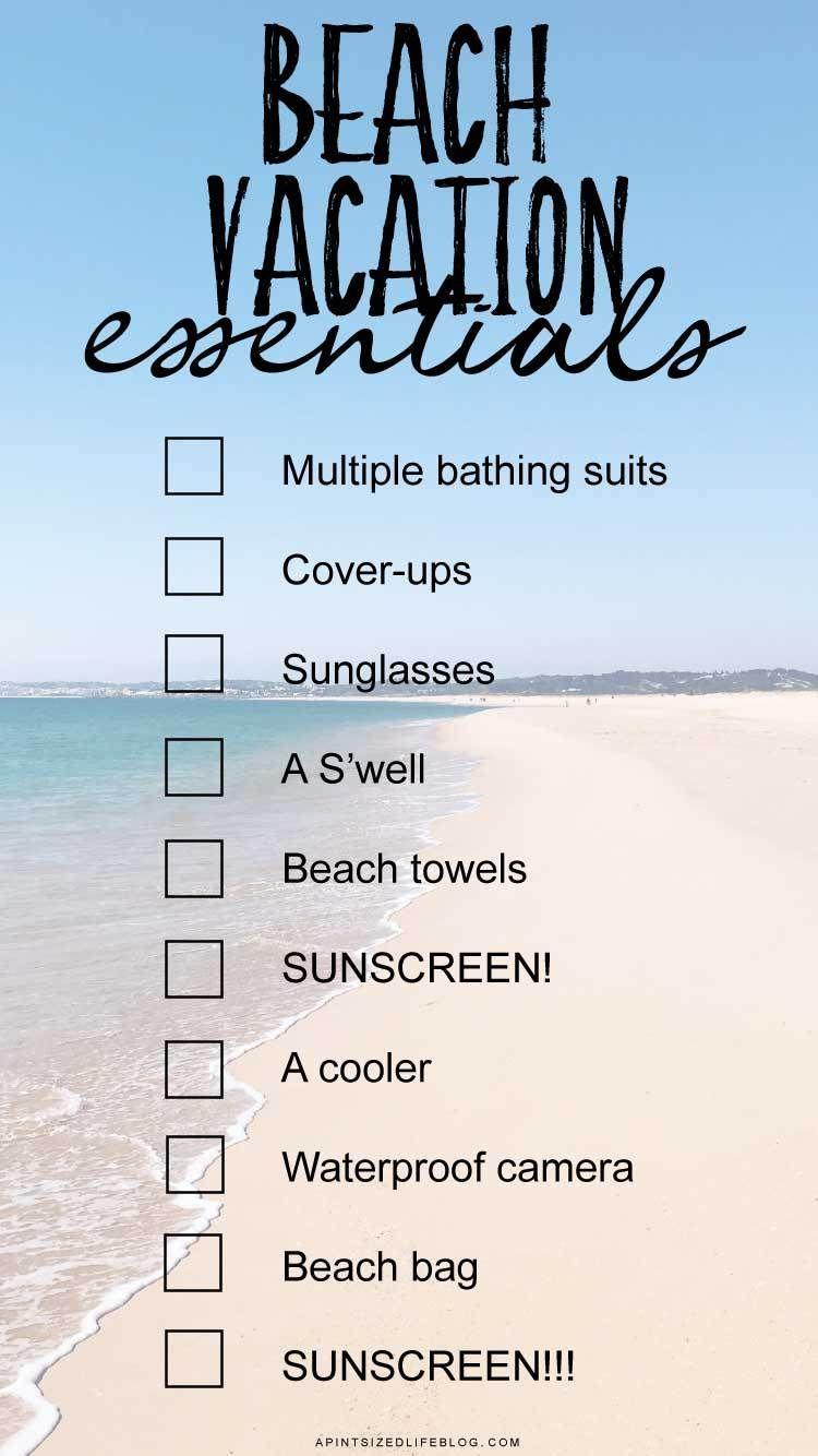 10 Beach Vacation essentials | APSL Blog | Vacation, Blog