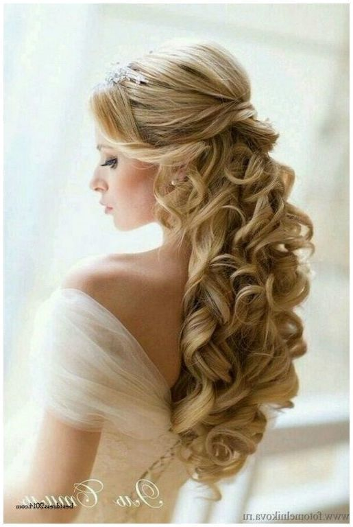 Half Up Half Down Curly Hairstyles For Wedding In 2019