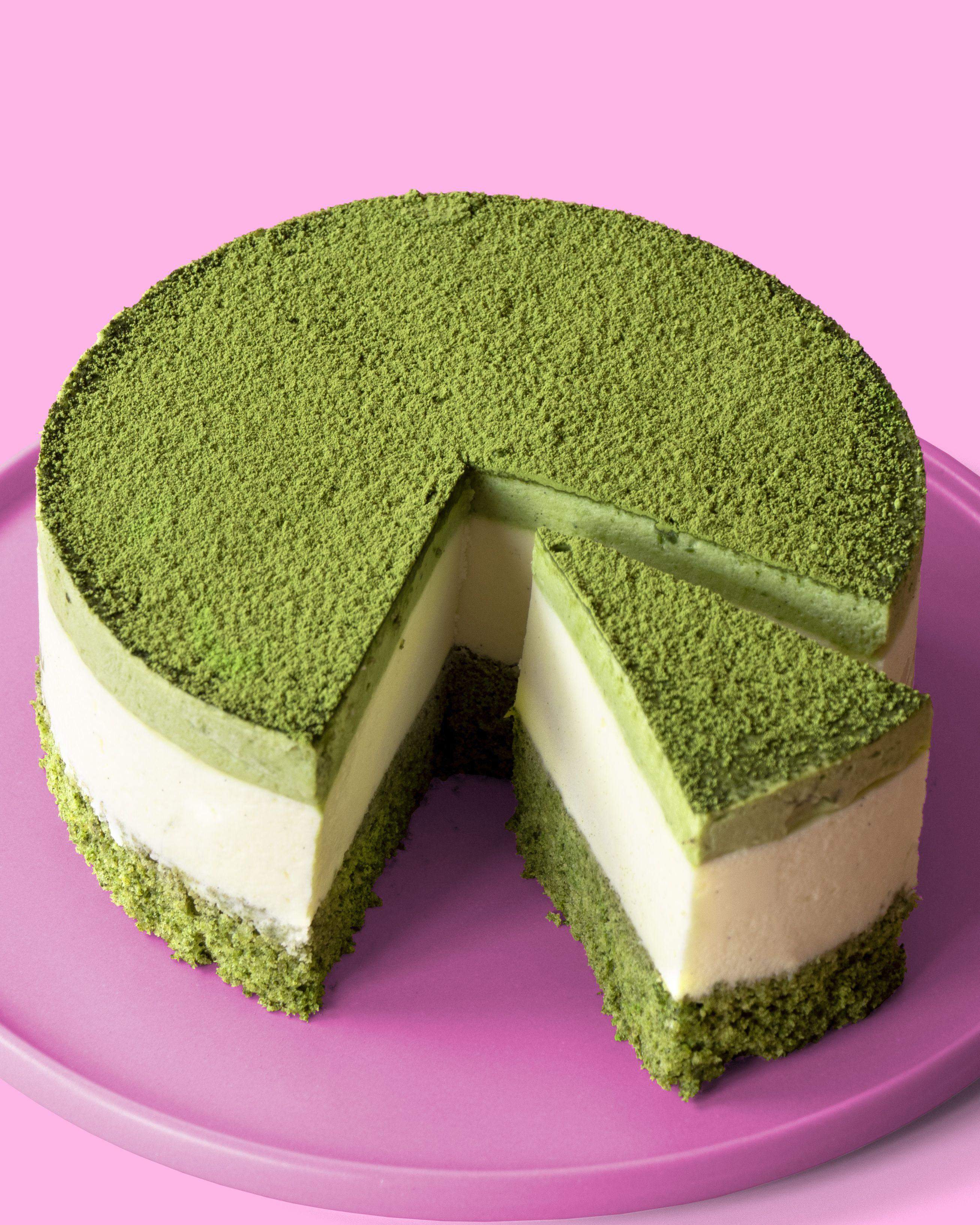 White Chocolate And Matcha Mousse Cake